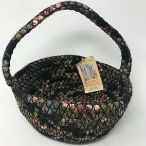 braided Large Basket with Handle NEW NWT